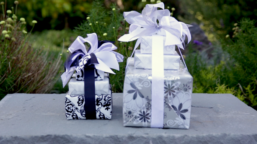 Gift A Feast Black & White Boxes