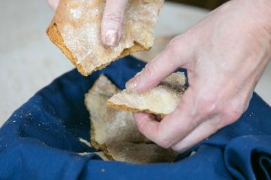 breaking up crackers